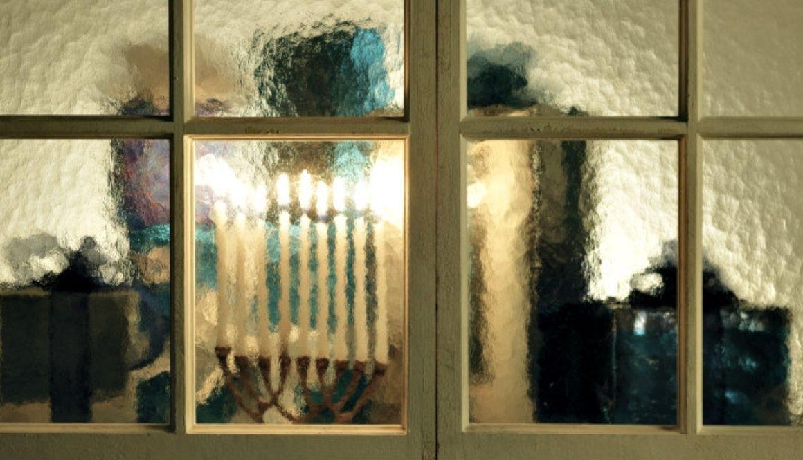 Menorah in window